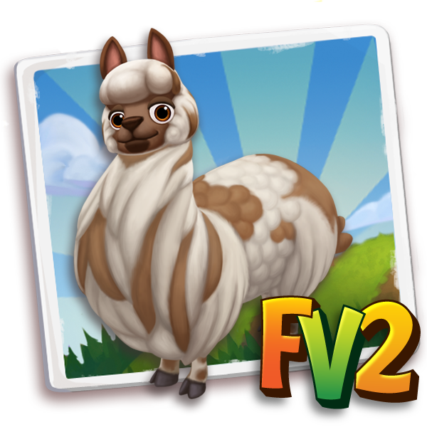 All free Farmville2 alpaca adult brownspottedhuacaya 600 gifts