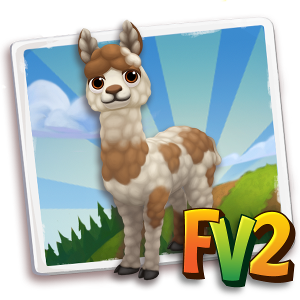 All free Farmville2 alpaca child brownspottedhuacaya 600 gifts