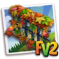 Fiery Fall Fence