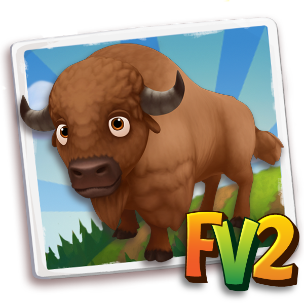 All free Farmville2 bison adult plainbrown 600.png gifts